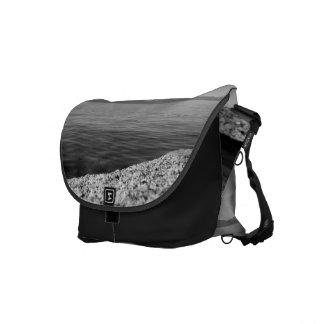Black And White Landscape 12 Messenger Bag