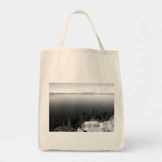 Black And White Landscape 15 Grocery Tote Bag