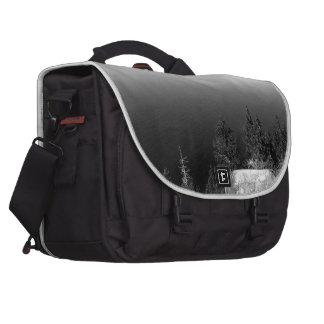 Black And White Landscape 15 Laptop Commuter Bag