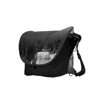 Black And White Landscape 15 Messenger Bags