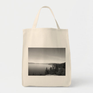 Black And White Landscape 16 Grocery Tote Bag