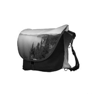 Black And White Landscape 16 Messenger Bag