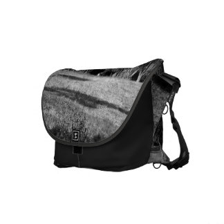 Black And White Landscape 1 Messenger Bags