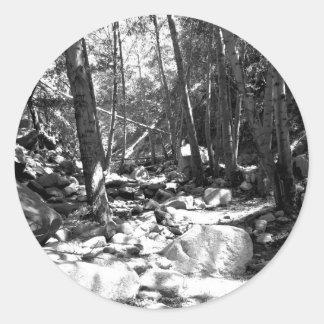 Black And White Landscape 23 Round Stickers
