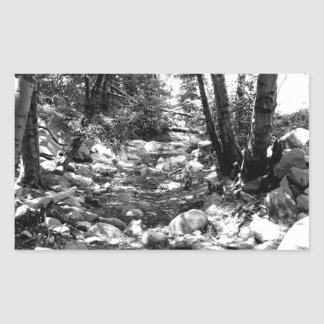 Black And White Landscape 24 Rectangle Stickers