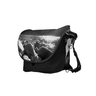 Black And White Landscape 5.png Courier Bags