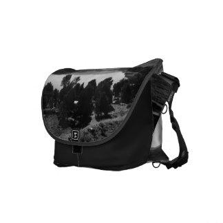 Black And White Landscape 6 Messenger Bags