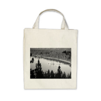 Black And White Landscape 7 Tote Bags