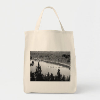 Black And White Landscape 7 Grocery Tote Bag