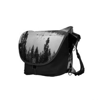 Black And White Landscape 7 Messenger Bags