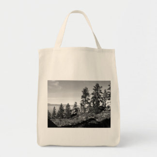 Black And White Landscape 8 Grocery Tote Bag