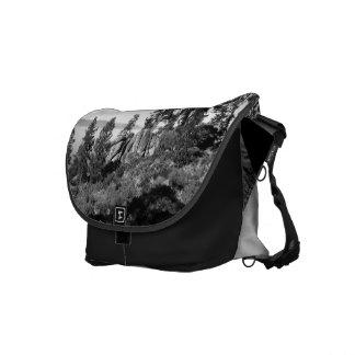 Black And White Landscape 8 Messenger Bag