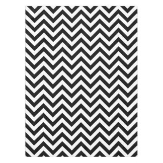 Black and White Large Chevron ZigZag Pattern Tablecloth