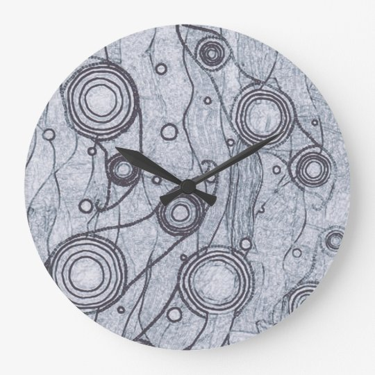Black and White Large Clock