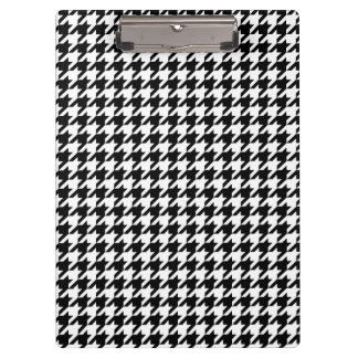 Black and White Large Houndstooth Pattern Clipboard