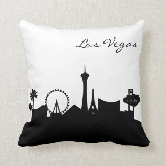 Black and White Las Vegas Skyline Cushion