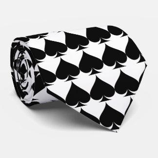 Black and white Las Vegas wedding poker neck tie