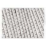 Black and white lattice fence design card