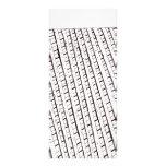 Black and white lattice fence design rack card design