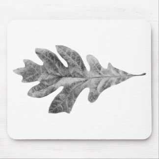 black and white leaf pad mouse mat