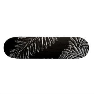 Black and White Leaves Skate Deck