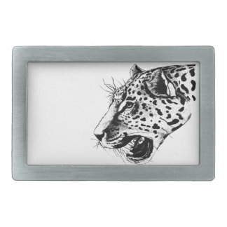 Black And White Leopard Belt Buckle