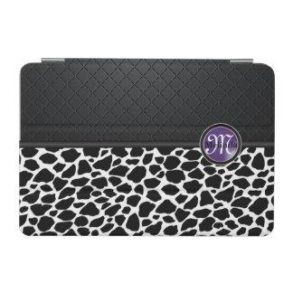 Black and White Leopard Design | Purple Label iPad Mini Cover