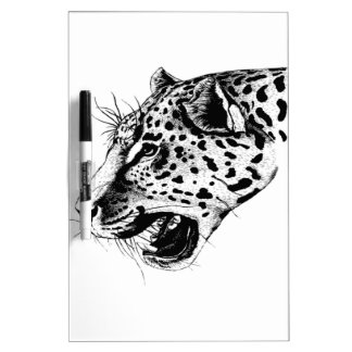 Black And White Leopard Dry-Erase Board