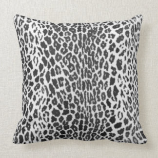 Black and White - Leopard Faux Animal Print Cushion