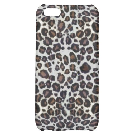 Black and White Leopard Fur Print iPhone 4 Case