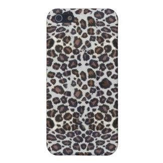 Black and White Leopard Fur Print iPhone 4 Case