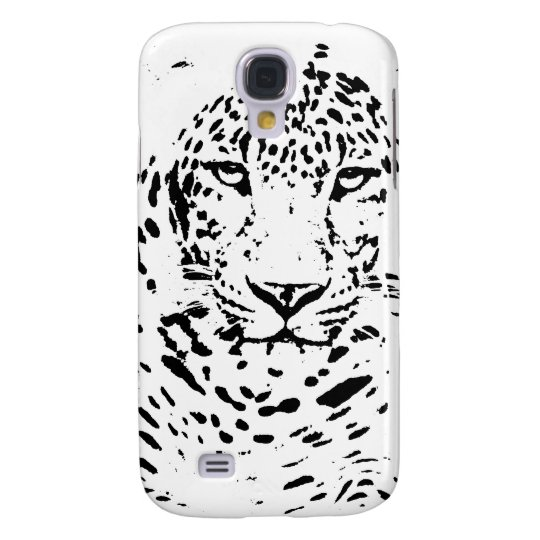 Black and White Leopard Galaxy S4 Case
