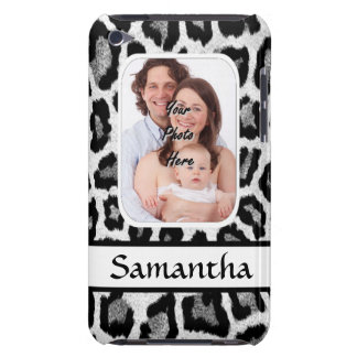 Black and white leopard print barely there iPod cases