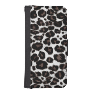 Black and White Leopard Print - Classic Stylish iPhone SE/5/5s Wallet Case