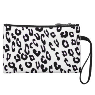 Black And White Leopard Print Mini Clutch Bag