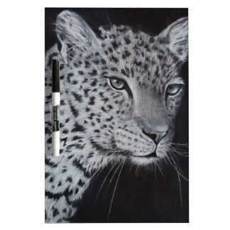 Black and white leopard sketch Dry-Erase board