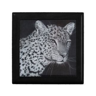 Black and white leopard sketch gift box