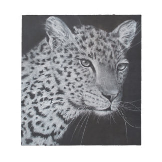 Black and white leopard sketch notepad