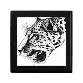 Black And White Leopard Small Square Gift Box