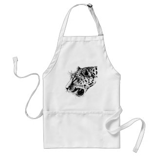 Black And White Leopard Standard Apron
