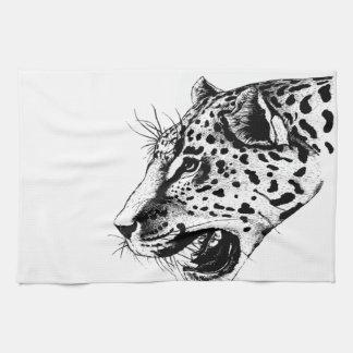 Black And White Leopard Tea Towel