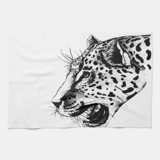 Black And White Leopard Towel