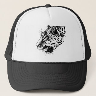 Black And White Leopard Trucker Hat