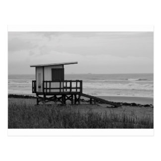 Black and White Lifeguard Stand Postcard