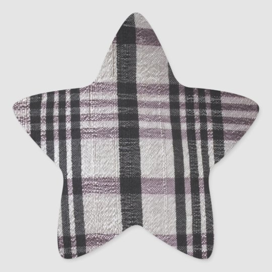 black and white lines on textile star sticker