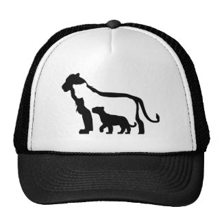 Black and White Lions Cap