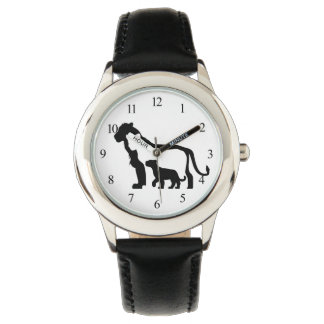 Black and White Lions Watch