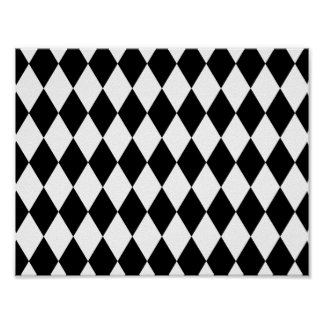 Black and White Liquorice Pattern Poster