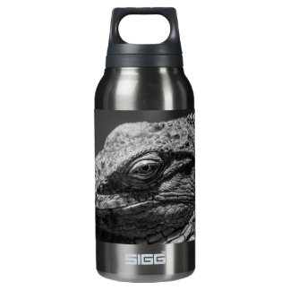 Black and White Lizard Insulated Water Bottle