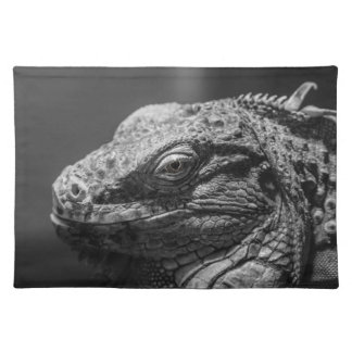 Black and White Lizard Placemat